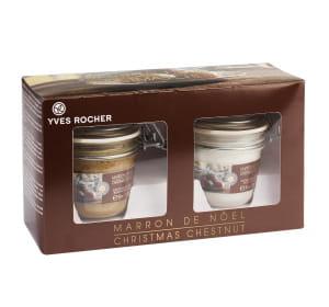 l'exfoliant et la crème 'marron glac' d'yves rocher seront vendus dès novembre
