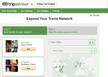avec trip advisor, vous découvrez les destinations préférées de votre réseau.