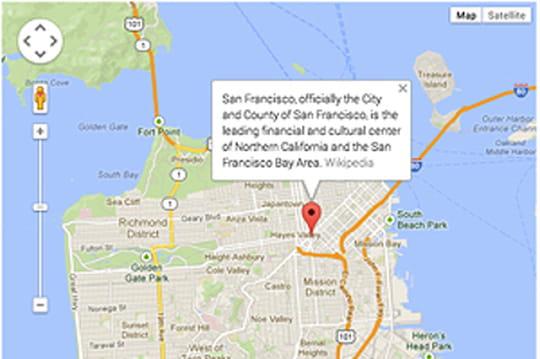Google Maps API draine un 1milliard de visiteurs uniques par semaine