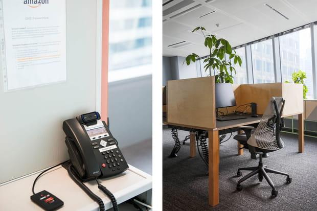 Une cabine téléphonique pour joindre la hotline
