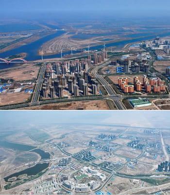 tianjin eco city s'étend sur 30 km2.