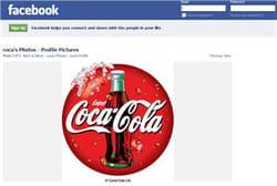 la page de coca-cola sur facebook
