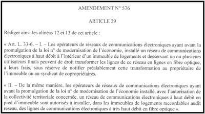 art 29 amendement 576