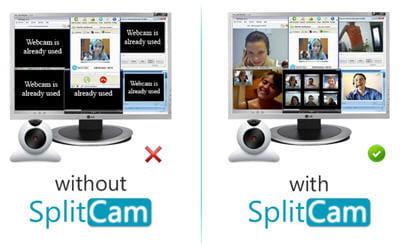 copie d'écran du site de splitcamera