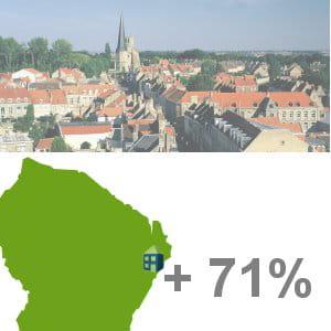 la ville de saint-georges, en guyane, arrive en 13e position du classement.