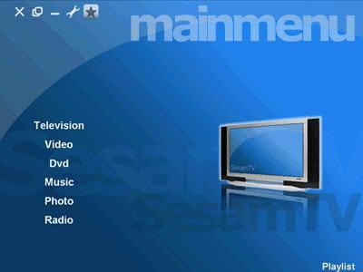 menu général du logiciel sesamtv