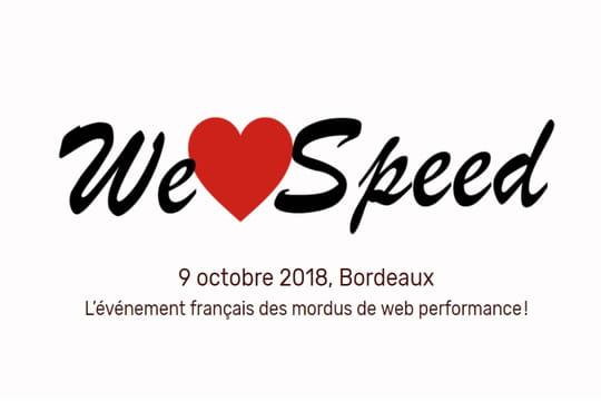 We Love Speed, événement de la page Web, aura lieu le 9 octobre
