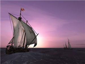 un écran de veille voyage of columbus 3d.