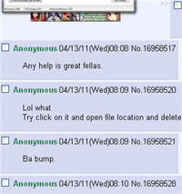 extrait du site 4chan pour voir l'origine du mot anonymous