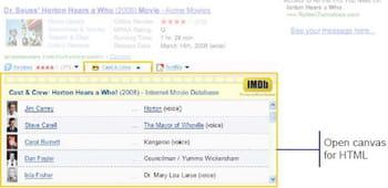 barre d'information pour imdb
