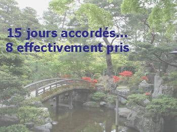 malgré un très faible nombre de jours de congés, les japonais gardent la zen