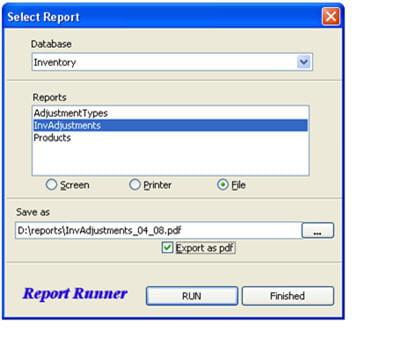 les rapports peuvent être directement générés au format pdf.