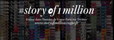 pour fêter son million de followers, vogue paris lance une grande opération sur