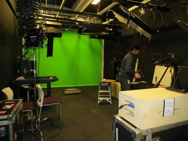 Un studio vidéo professionnel