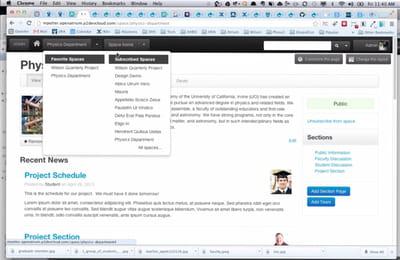 exemple d'intranet sous drupal open atrium.