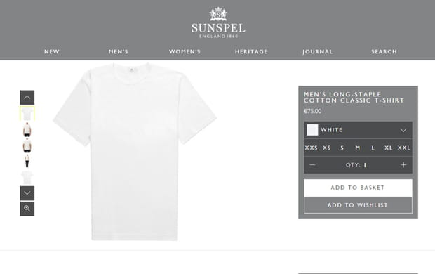 Sous-vêtements : Sunspel