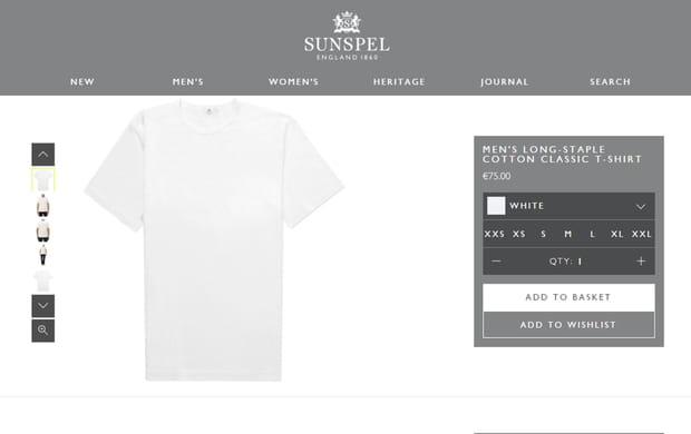 Sous-vêtements : Sunspel