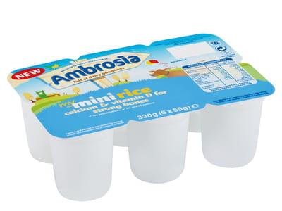 le riz au lait en mini portion ambrosia.