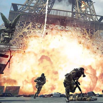 une scène du dernier call of duty, à paris.