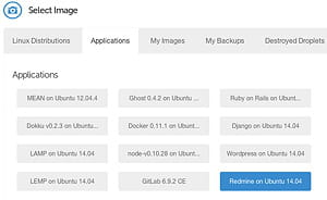 parmi ses images de vm, digitalocean propose docker.