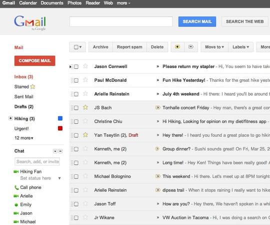 Quels sont les webmails préférés des Français?