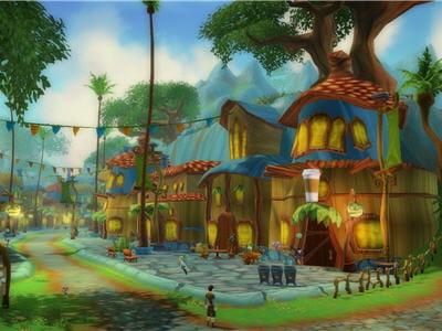 un aperçu du monde et des villes de free realms