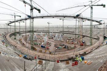 la construction du stade olympique a nécessité 3 ans.