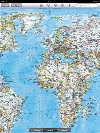 l'encyclopédie world atlas sur l'ipad