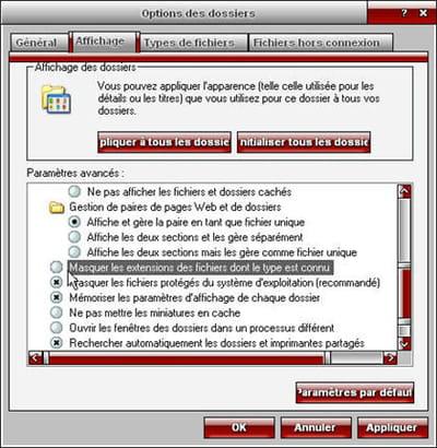 si les extensions des fichiers ne s'affichent pas sous windows, voici la