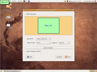 paramétrer son écran sur ubuntu
