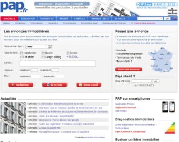 le site pap.fr comptait 1,8 millions de visiteurs uniques en mai 2012