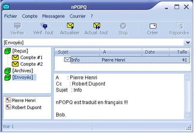le client de messagerie npopq