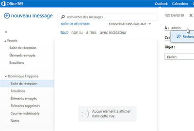 la nouvelle version d'outlook intégrée à office 365.