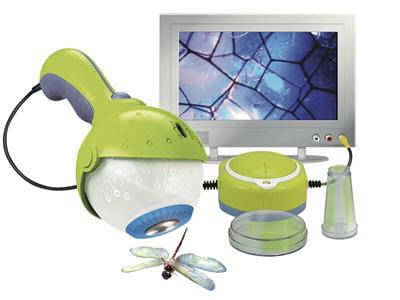 microscope qui se branche à la tv