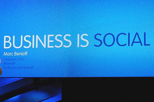 "A Dreamforce, ""le business est social"""