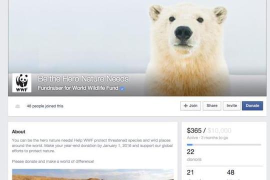 Facebook se lance dans le crowdfunding avec Fundraiser