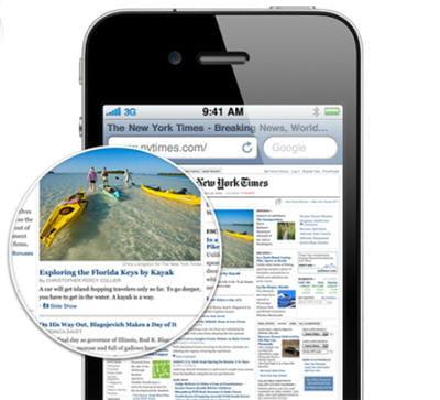 l'écran de l'iphone 4 doit améliorer le confort en vidéo.