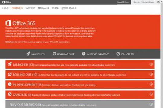 Microsoft dévoile la feuille de route d'Office 365 pour les entreprises