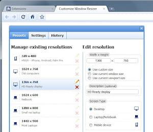 window resizer permet de tester un site dans différentes résolutions d'écran.