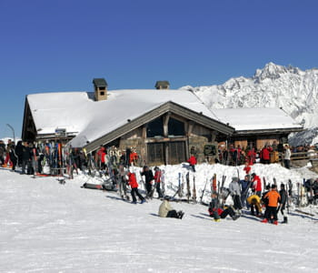 un restaurant d'altitude à chamonix