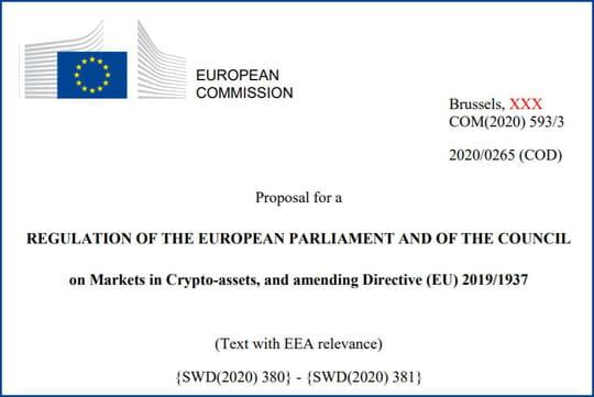 Régime européen pour les crypto-monnaies : sitôt publié, sitôt critiqué