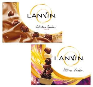 lanvin fête cette année ses 75 ans et édite des boîtes 'collection créateur'.