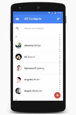 voici à quoi ressemblera l'application des contacts sur le nouvel android l