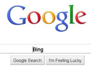 la firme de mountain viewtaxe bing de 'mauvaise imitation de google'.
