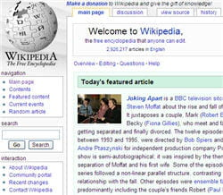page d'accueil du site wikipedia.org.