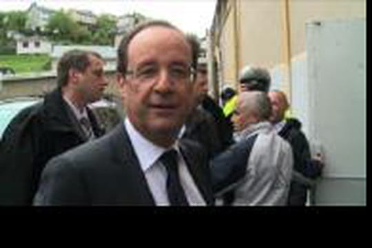 Hollande: il va appeler Merkel si il gagne