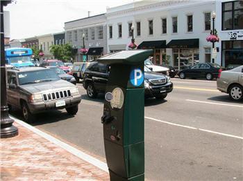 exemple de paiement sans contact appliqué aux places de parking.