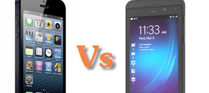 BlackBerry 10 Vs iPhone 5 : le match