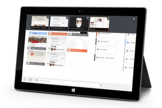 Firefox pour Windows 8 tactile en bêta