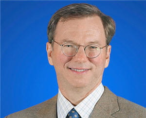 eric schmidt est p-dg de google depuis 2001.